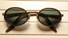 Vintage Ray Ban B&L OVAL SIDE CUPS Sunglasses shields round gatsby gold brown