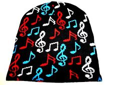 NEW Color Music Note KNITTED WINTER SKI SNOWBOARDING HAT CAP BEANIE