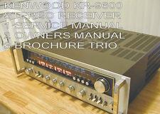 KENWOOD KR-9600 SERVICE MANUAL OWNER MANUALSCHEMATICS BROCHURE ARTICLE TRIO  CD