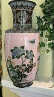"Large (13x6"") Japanese Antique Cloisonne Vase."