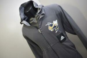 Adidas Basketball Hoodie Georgia Tech Gray Athletic Pullover Sweater Mens Large