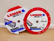 "LENOX METALMAX 230MM 9"" ANGLE GRINDER DIAMOND METAL CUTTING DISC 2030870"