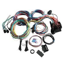 New 21 Circuit Wiring Harness with Extra Long Wires for Mopar Ford Hotrods