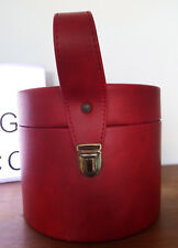 Vanity case vintage rond rouge - Vanity case vintage round red