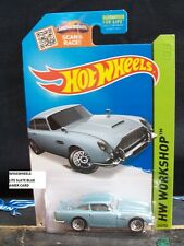 Hot Wheels 2015 #245 -2 Aston Martin 1963 Db5 Blu Amer Workshop