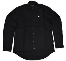 EMPORIO ARMANI Slim Fit Poplin Long Sleeve Shirts - Classic Collar EA Shirts