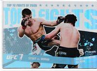 Sam Stout Matt Wiman 2010 Topps UFC Main Event Top 10 Fights Of 2009 Card # 20