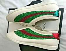 Gucci Falacer Glitters-embellished Sneakers--Size10
