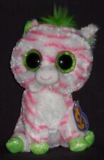 TY BEANIE BOOS - SAPPHIRE the ZEBRA - JUSTICE EXCLUSIVE - NEAR MINT TAG