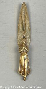 Antique Cast Brass Angel Letter Opener