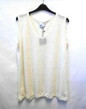 BNWT Asos Curve Thin Knit Cream Sleeveless Jumper Vest Top Plus Size 24 (A10-A)