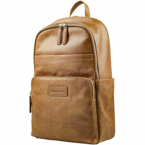 "dBramante1928 Svenborg Leather Backpack Bag For Laptop (up to 16"") Storage– Tan"