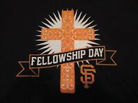 Vintage San Francisco SF Giants Fellowship Day TShirt SGA New LARGE  RARE