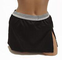 24th NEW Solid Black Women's Size L Large 12 14 Swim Skirt Bottom $50 4623