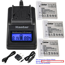 Kastar Battery LCD Fast Charger for Canon NB-4L 4LH Canon PowerShot ELPH 300 HS
