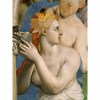 Agnolo Bronzino The Adoration The Bronze Snake Large Canvas Art Print