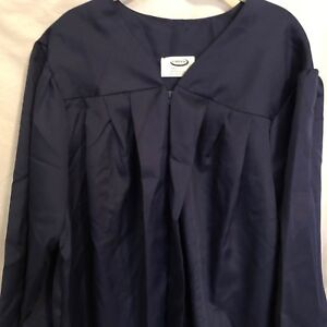 Jostens Navy Blue Graduation Gown Height 5'4 to 5'6