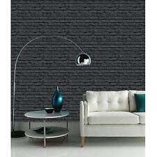 Noir Papier Peint Brique - Arthouse Vip 623007 - Nouveau Décor de la Salle