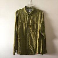 The North Face Plaid Button Front Shirt Modal Blend Long Sleeve Men's Medium
