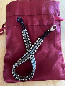 DANIELLE WELMOND Exquisite Labradorite Gemstone Sterling Cuff Bracelet RARE MINT