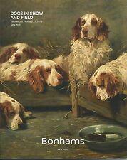 Bonhams Dog Sale Bulldog Foxhound Setter Pekingese Terrier Spaniel Catalog 2016
