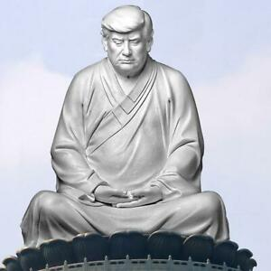 2021 NEW Buddha Statue Of Trump Make Your Company Great Again Ornaments New