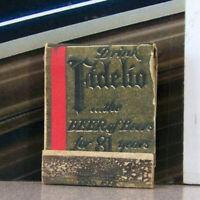 Vintage Matchbook K6 Early Beer Matchbook Drink Fidelio Eastern For 81 Years