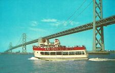 SAN FRANCISCO'S HARBOR QUEEN, Sight-Seeing Boat Dock at Pier 43 - 1967 postcard