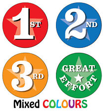144 x Sports Day Reward Stickers - 1st, 2nd, 3rd, Great Effort - School Teacher