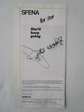 2/1973 PUB SFENA VELIZY STATIC INVERTER GYROSCOPIC HORIZON ORIGINAL AD