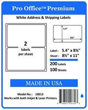 300 Pro Office Premium Round corner Self Adhesive Blank Shipping Labels 2/Sheet