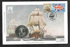 Battle of Trafalgar 2005 Gibraltar crown coin on commemorative PNC cover.