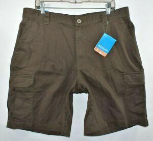 New Columbia Brownsmead II Cargo Hiking Omni Shade Shorts Men Size 38 x 10 Brown