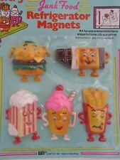 Set of 5 Junk Food Refridgerator Magnets - New Old Stock