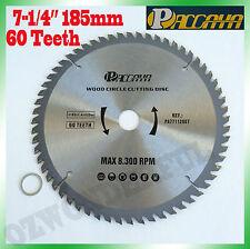 "Circular Saw Blade(185mm) 7-1/4""x 60 Teeth Timber Aluminum Alloy Plastic Cutting"