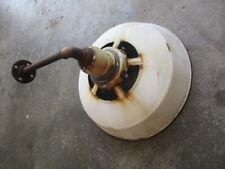"18"" VINTAGE Porcelain gas station Barn Industrial Light on pole shade industrial"