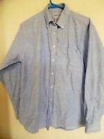 CABIN CREEK WRINKLE FREE BLUE TOP SHIRT BLOUSE SZ 14 18