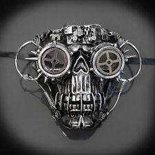 Masquerade Mask New Steampunk Silver Evil Genius Scientist Halloween Costume