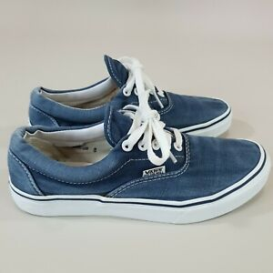 Vans Off the Wall Womens US 8 Shoes Sneakers Blue Fabric