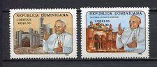 27965) DOMINICANA REP. 1992 MNH** Nuovi** Visit Pope J.Paul