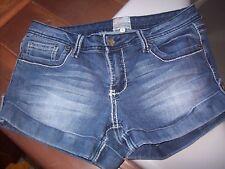 Arden B Blue Denim Cuffed Jean Short Shorts Size 6 Stretchy SOFT Thin Light