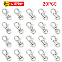 20pcs Lobster Clasp Swivel Trigger Clip Snap Hook Bag Car Key Rings Keychain
