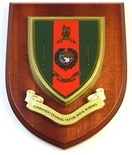 ROYAL MARINES COMMANDO TRAINING CENTRE HAND MADE IN THE UK REGIMENT MESS PLAQUE