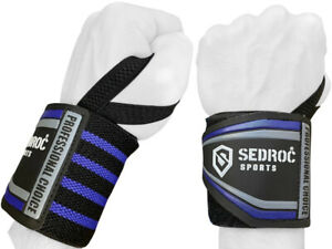 Sedroc Wrist Wraps for Weightlifting Powerlifting with Thumb Loops for Men Women