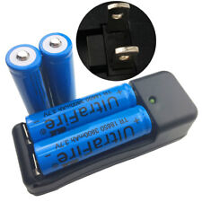 4 X 18650 3800mAh 3.7V Li-ion Rechargeable Battery &4.2V Fast Dual US Charger