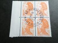 FRANCE BLOC timbres 2182 LIBERTE' DELACROIX, oblitéré 1982 cachet rond, QUARTINA