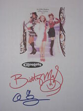 Clueless Signed Movie Film Script X2 Brittany Murphy Alicia Silverstone reprint