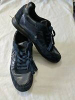 Mens Versace Jeans Navy Blue Suede Leather Style Trainers Size Eur 42 UK 8 #4