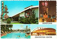 Anaheim CA Musketeer Motel at Disneyland and Convention Center Postcard 1970s
