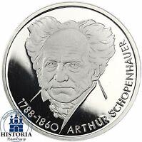 BRD 10 DM Silber 1988 - Arthur Schopenhauer Spiegelglanz Münze in Münzkapsel